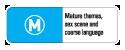 Classification: M for Mature Themes, Sex scene and coarse language