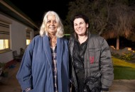 Marcia Langton with director Beck Cole: photographer Sam Oster